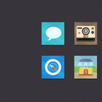 Colorful Flat Icons Set