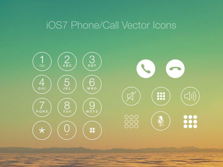 iOS7 Phone/Call Vector Icons