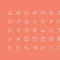 50 Thin Icons
