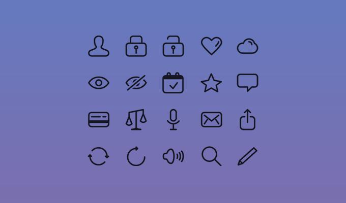 20 Glyph Icons
