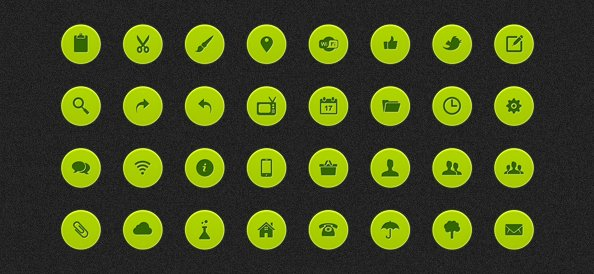 Web Icons PSD Set