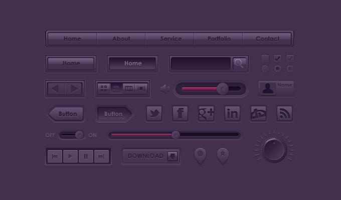 Purple UI Kit