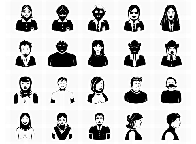 20 Vector Photoshop Avatar Icons
