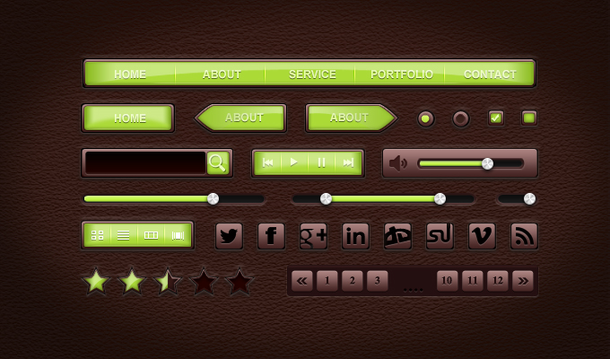 UI Leather Style