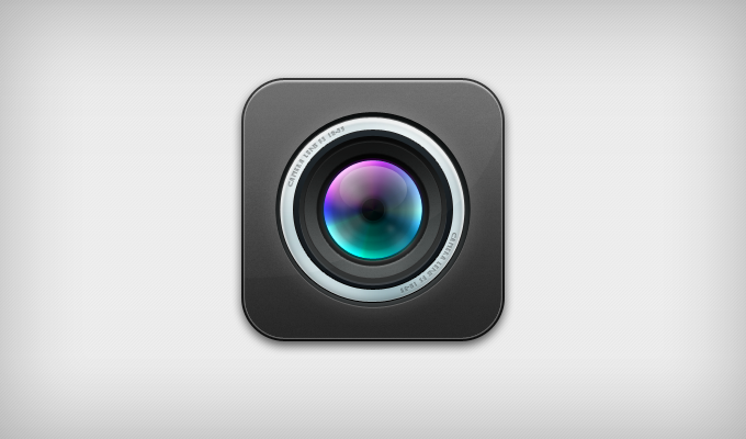iOS Lens Icon Psd
