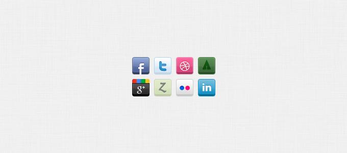 8 Social Icons