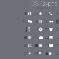 52 iOS System Retina Glyph Icons Set