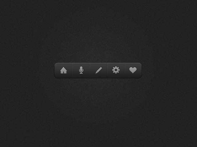 Dark Icon Dock