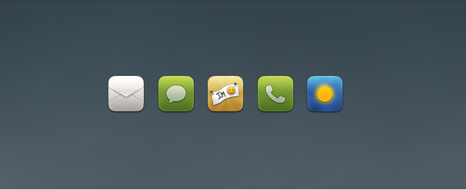 Mail, Chat, Phone, Weather Replacement Icons
