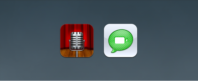 Voice Memos and Facetime Replacement Icons