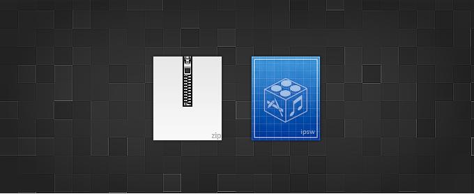 Zip and IPSW Icons
