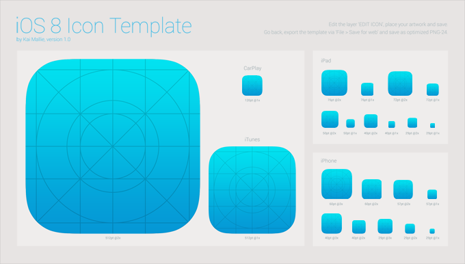 iOS 8 Icon Template
