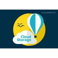 Flat Cloud Storage Icon