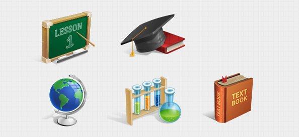 Free PSD Academic Icon Set