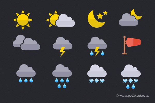 Flat Weather Icon