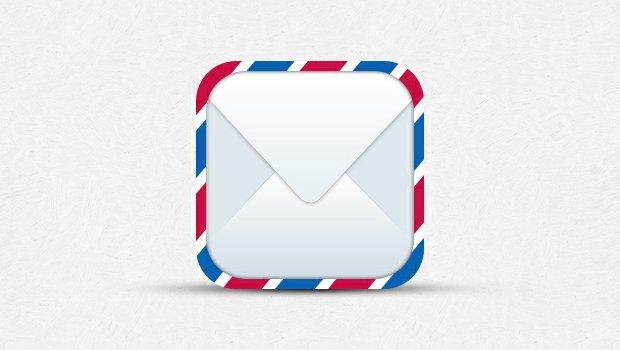 Mail iOS Icon Template