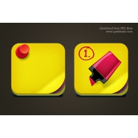 Free Download Sticky Note Icon PSD for Mac