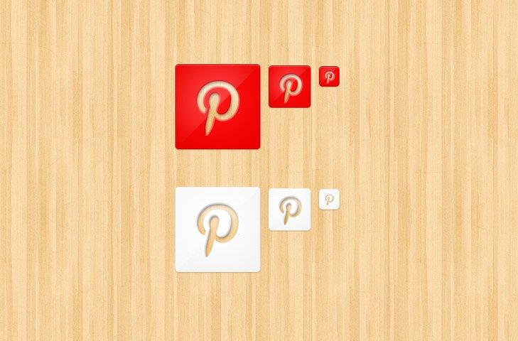 Die Cut Pinterest Icons