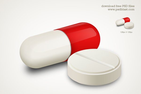 Capsule and White Pill Medicine Icon