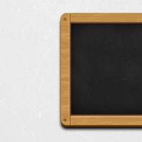 Wooden Black Chalkboard Icon