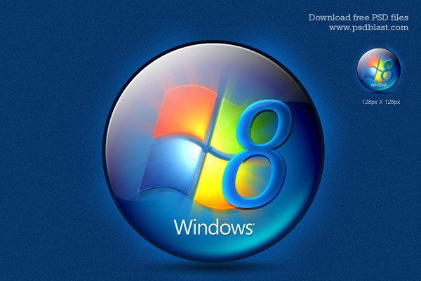 Free Windows 8 Logo Psd