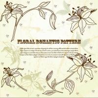 Floral Pattern vintage design vector-3