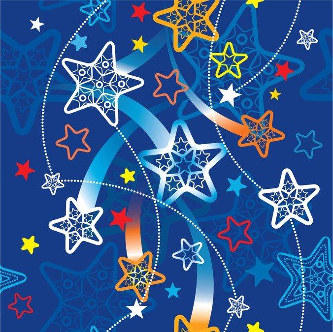 Открытка со звездой, поздравлениями