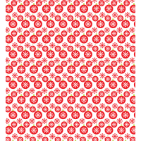 Christmas Bell And Snowflake Free Seamless Pattern