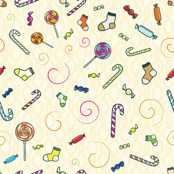 Free Vector Candy Seamless Pattern