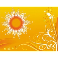 Pattern Composed Of The Sun And Fashion Patterns