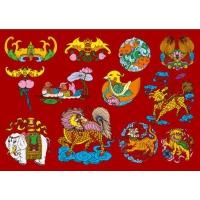 12 Chinese Folk Auspicious Pattern