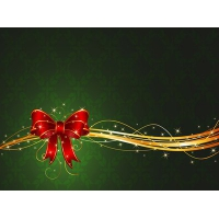 Christmas Ribbon with Stars & Swirls