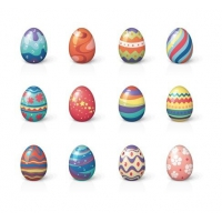 Set of Twelve Easter Eggs