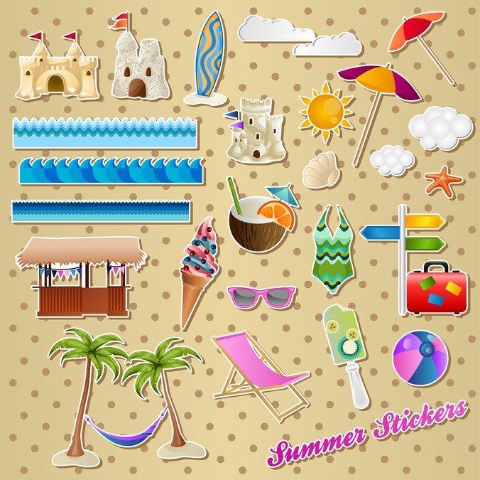 Lovely Seaside Stickers 01