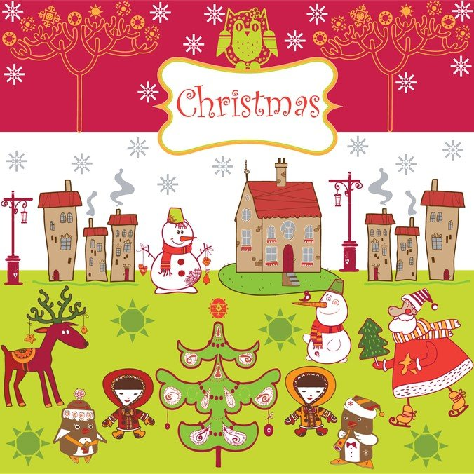 Cartoon Christmas Background