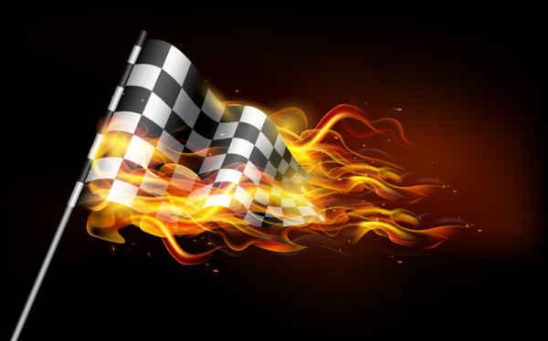 Burning Flame Banner Background