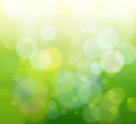 Abstract Green Bokeh Light Background