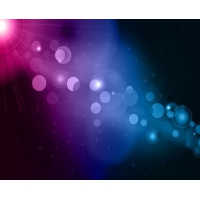 Blue and Purple Bokeh Abstract Light Background
