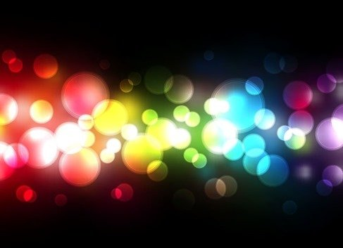 Beautiful Blurred Background on Dark