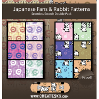Japanese Seamless Patterns Swatches For Illustrator