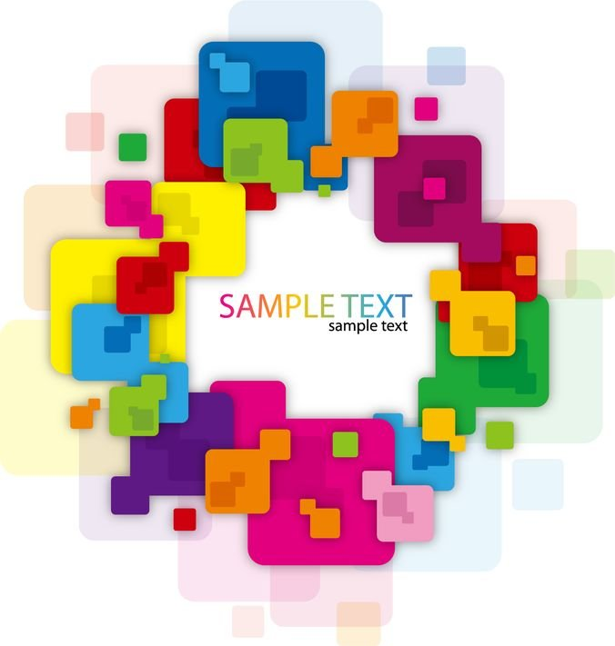 Abstract Background with Colorful Rounded Rectangles