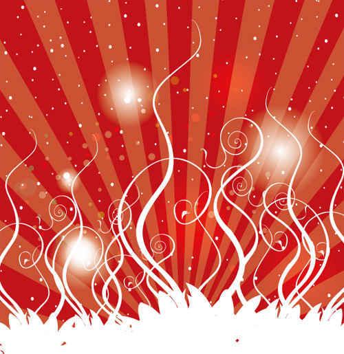 Swirls Red Background