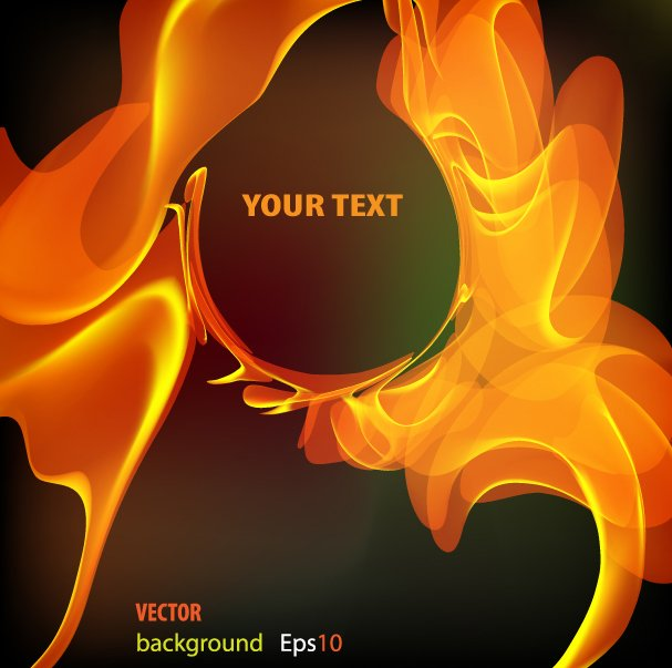 Flame Text Background