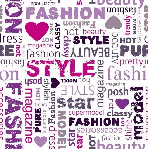 Fashion Word Collage