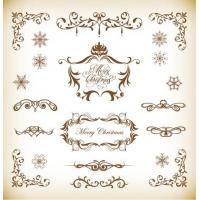 Vector Set of Christmas Decoration Elements