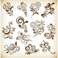 Set Vintage Floral Elements for Your Design
