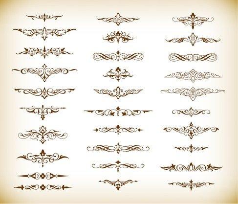 Decorative Elements Vector Graphics Set