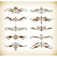 Vector Set of Decorative Elements for Your Design