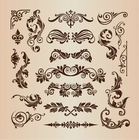 Retro Vintage Design Elements Vector Set