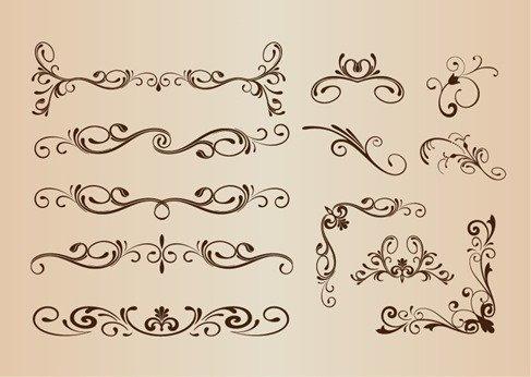 Vector Set of Decorative Elements